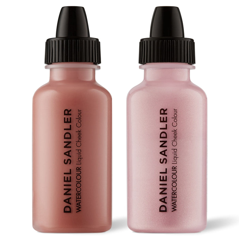 Daniel Sandler Watercolour Liquid Matte Blush & Illuminator Duo - Caress & Icing