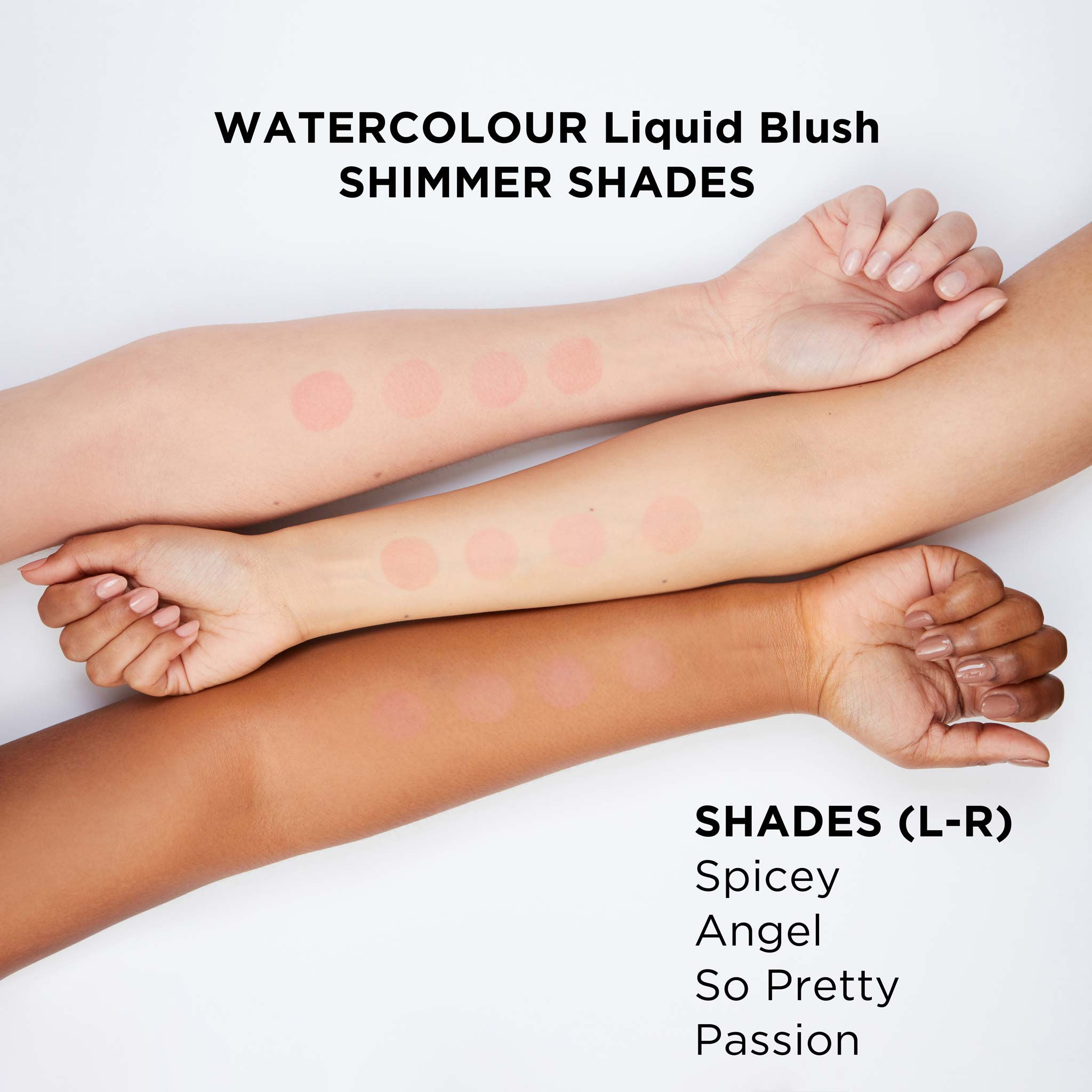 Daniel Sandler Watercolour Liquid Blush Swatches - Shimmer Finish Shades