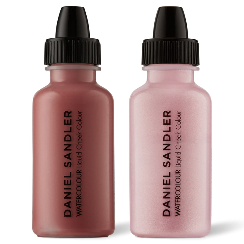 Daniel Sandler Watercolour Liquid Matte Blush & Illuminator Duo - Glamour & Icing