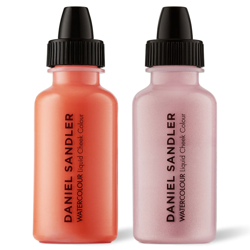 Daniel Sandler Watercolour Liquid Matte Blush & Illuminator Duo - Crush & Icing