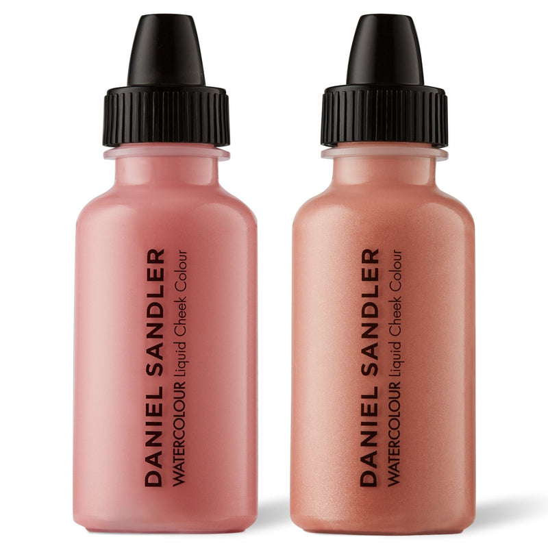 Daniel Sandler Watercolour Liquid Matte Blush & Illuminator Duo - Cherub & Rose Glow