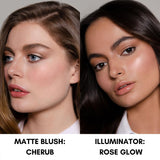 Daniel Sandler Watercolour Liquid Matte Blush & Illuminator Duo On Skin
