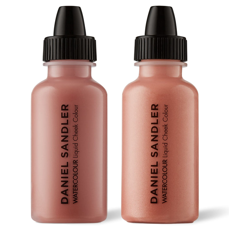 Daniel Sandler Watercolour Liquid Matte Blush & Illuminator Duo - Caress & Rose Glow