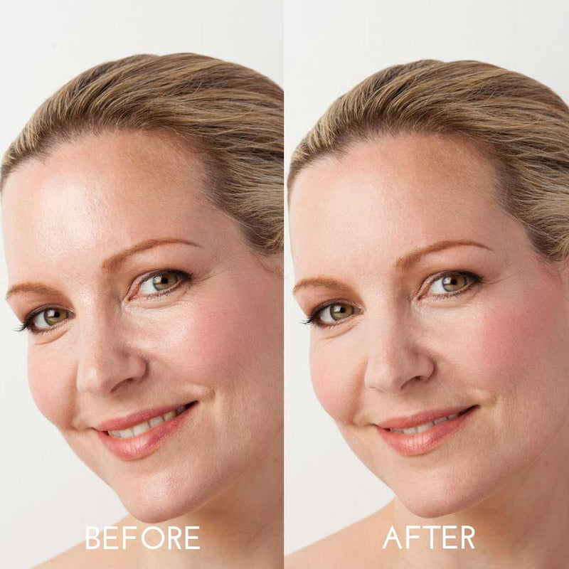 Daniel Sandler Invisible Veil Blotting Powder Before & After