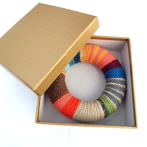Crochet bangle - Colorful bracelet