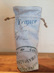 Consulate of France Linen Wine Bottle Gift Bag