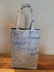 Consulate of France Canvas Double Wine Bottle Gift Bag