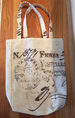 Ferrara Italy Canvas Double Wine Bottle Gift Bag