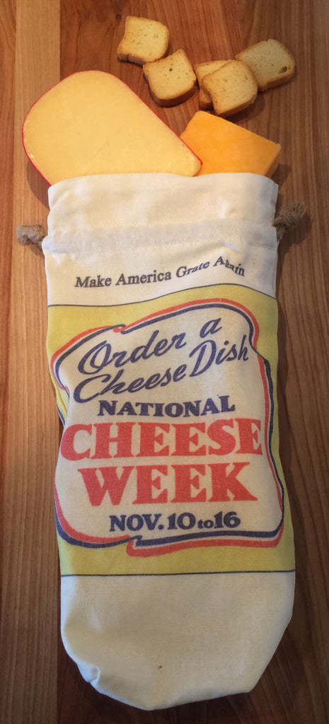 Order a Cheese Dish Make America Grate Again Linen Gift Bag