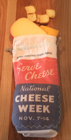 Serve Cheese Make America Grate Again Linen Gift Bag