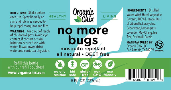 Organic Chix No More Bugs DEET-Free Mosquito Repellent