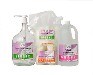 Laundry Starter Bundle Glass Jug