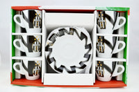Juventus Espresso Cups--set of 6 cups and saucers