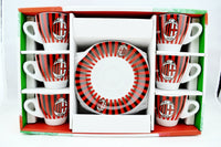 Boxed set of 6 AC Milan Espresso Cups