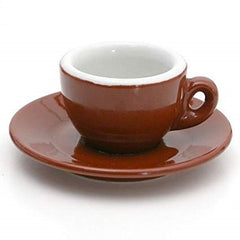 3 oz brown Milano Espresso Cup made in Italy