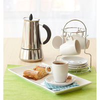 White Espresso Cups with Stand