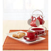 Red Espresso Cups With Stand