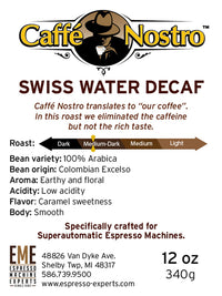 Caffé Nostro™-Swiss Water  Decaf Espresso Coffee Beans