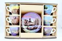 Italian Panorama Espresso Cups Set of 6 in Box