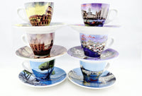 Italian Panorama Espresso Cups Set of 6