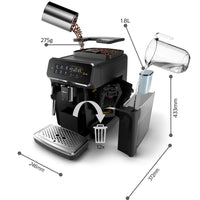 Philips Saeco 3200 Series Superautomatic Espresso Machine Classic Milk Frother Black EP3221/44