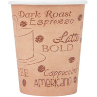 Paper cups with cafe print 8 OZ