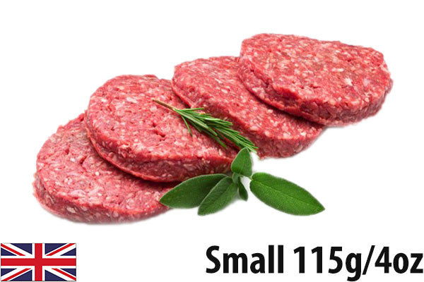 Fresh Beef Steak Burgers SMALL - (6 per 690g pack =115g/4oz each)