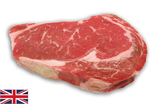 Fresh Beef Ribeye Steaks - (4 per 900g pack = 225g/8oz each)