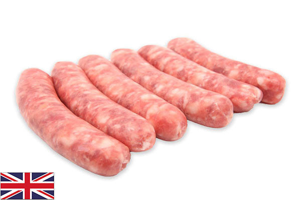 Fresh Pork Lincolnshire Sausages - 95% - (6 per 430g pack)