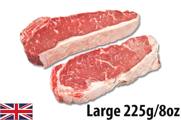 Fresh Beef Sirloin Steaks LARGE - (4 per 900g pack = 225g/8oz each)