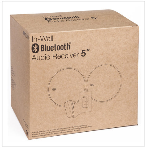 5 Inch In Wall Speakers With Bluetooth Audio Receiver
