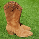 -20% OFF - Bota Texana Mary Cano Alto Camel
