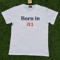 -  50% Off  - T-Shirt Born in 70´s