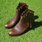 Bota Sarah Croco Brown