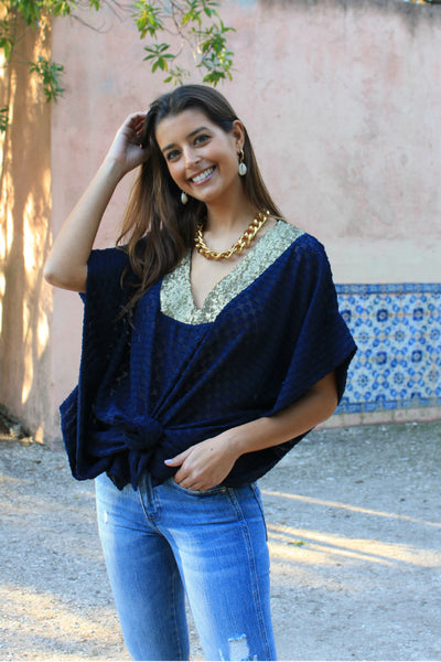 Kaftan Blue & Gold