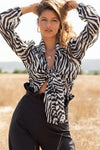 Blusa Edith Zebra Black