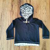 Sweatshirt Black & Zebra