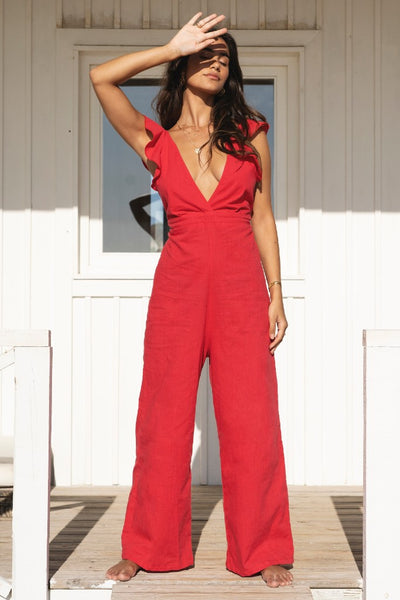 Jumpsuit Amalfi Red