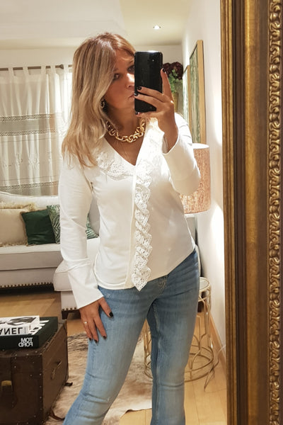 -20% Off  - Túnica Brigitte Just Ivory