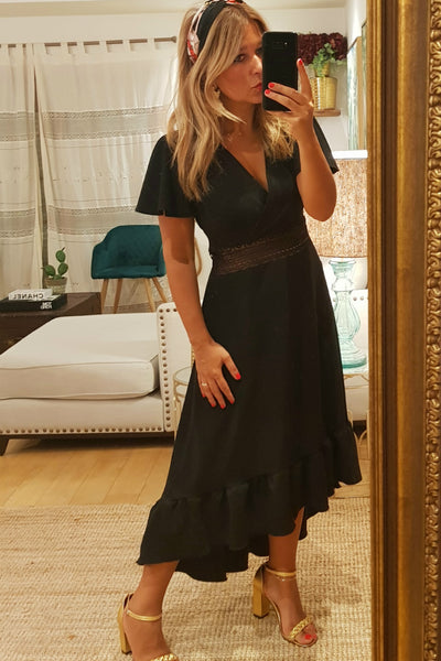Vestido Longo Emma Just Black