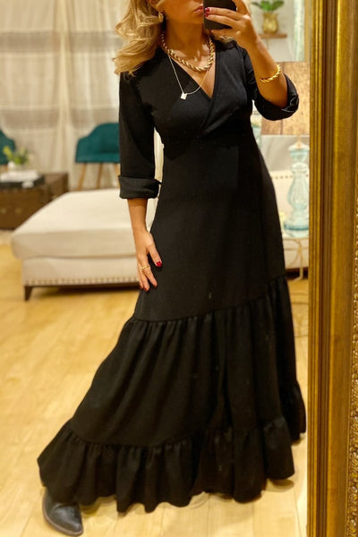 Vestido Longo Paloma Just Black