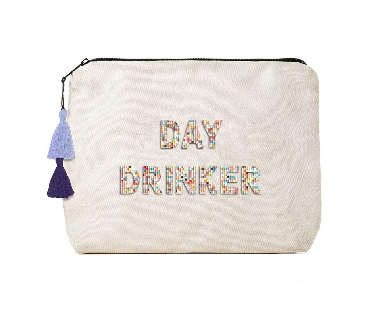 FR CANVAS BIKINI BAG CONFETTI BEADS DAY DRINK