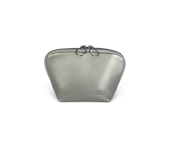 EVERYDAY MAKE UP BAG VEGAN LEATHER MIRROR