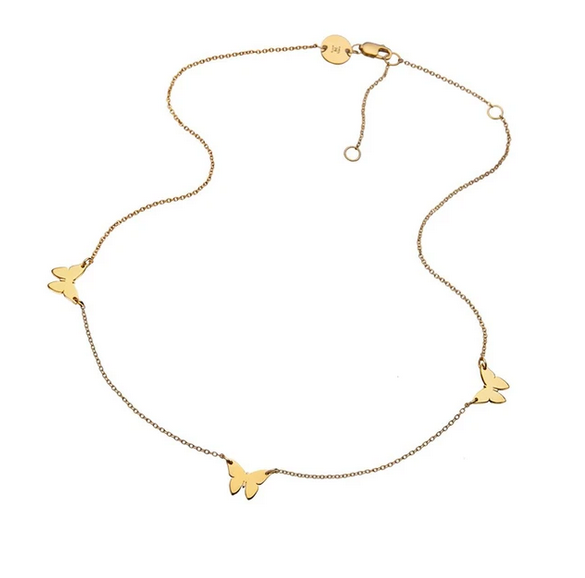 MARIAH ROMY NECKLACE GOLD VERMEIL