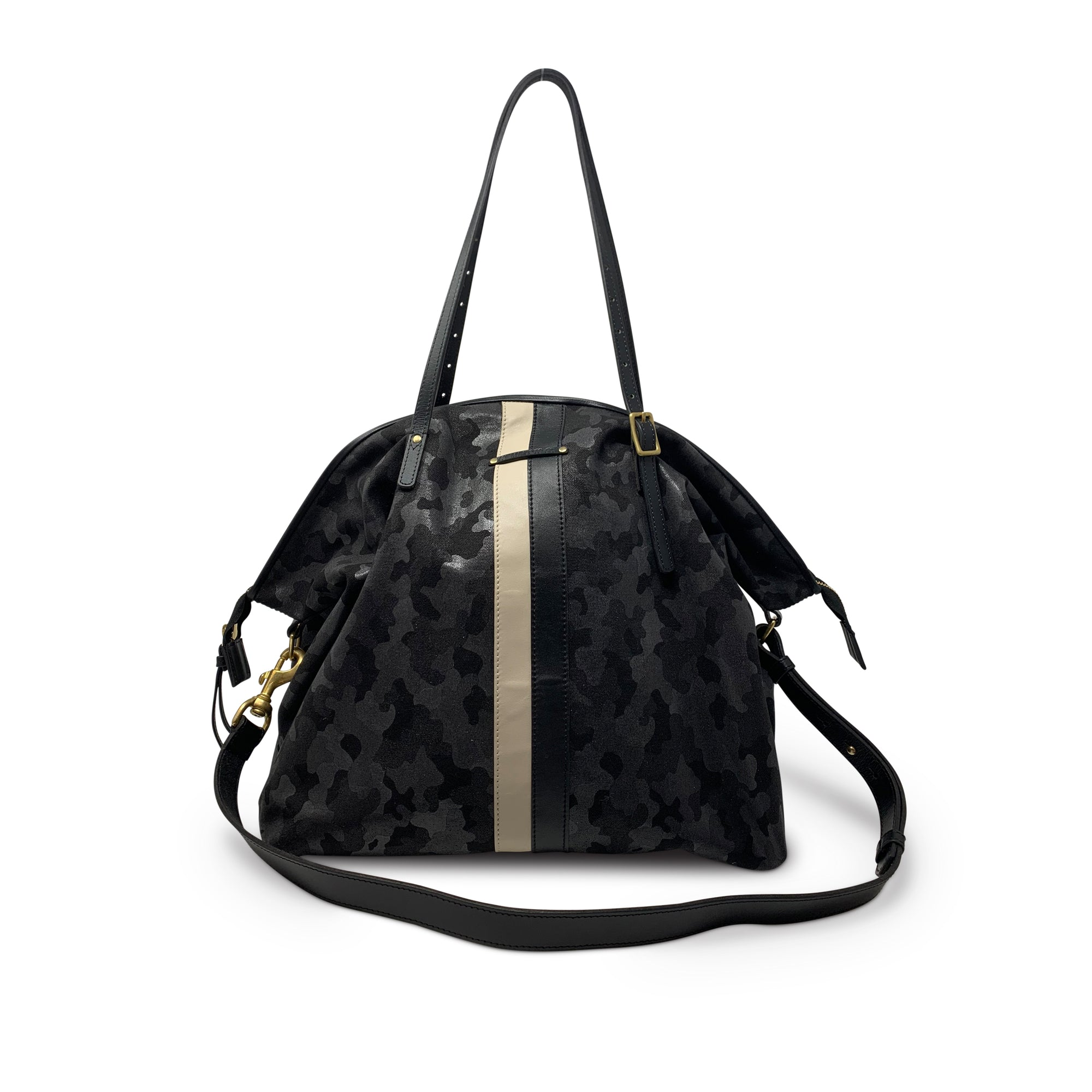 CANVAS CAMO CROSSBODY BLACK/ GREY
