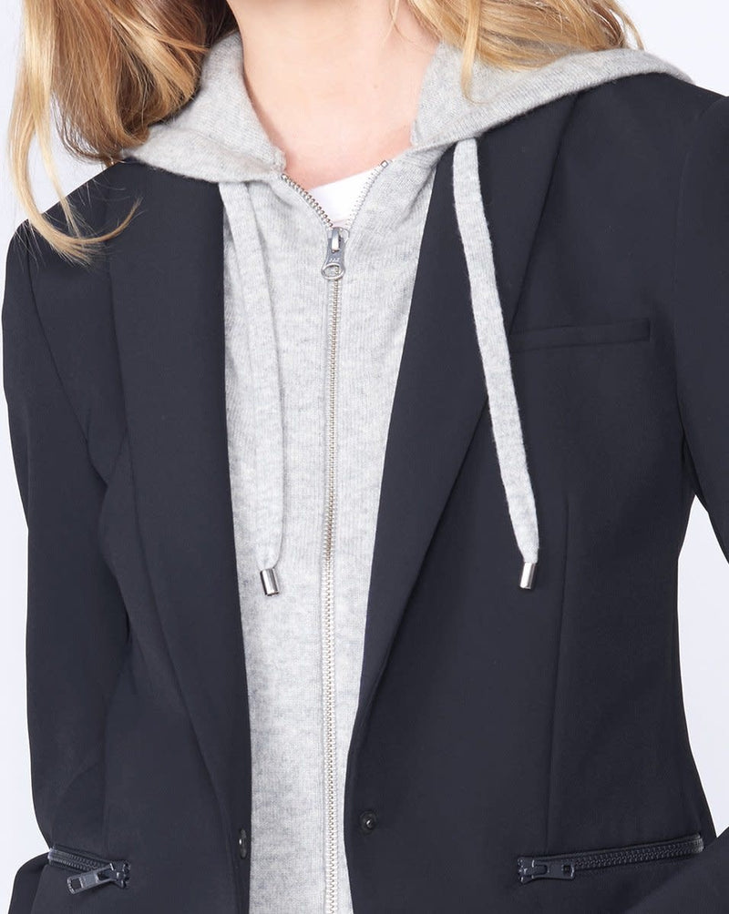 CASHMERE HOODIE DICKEY GREY