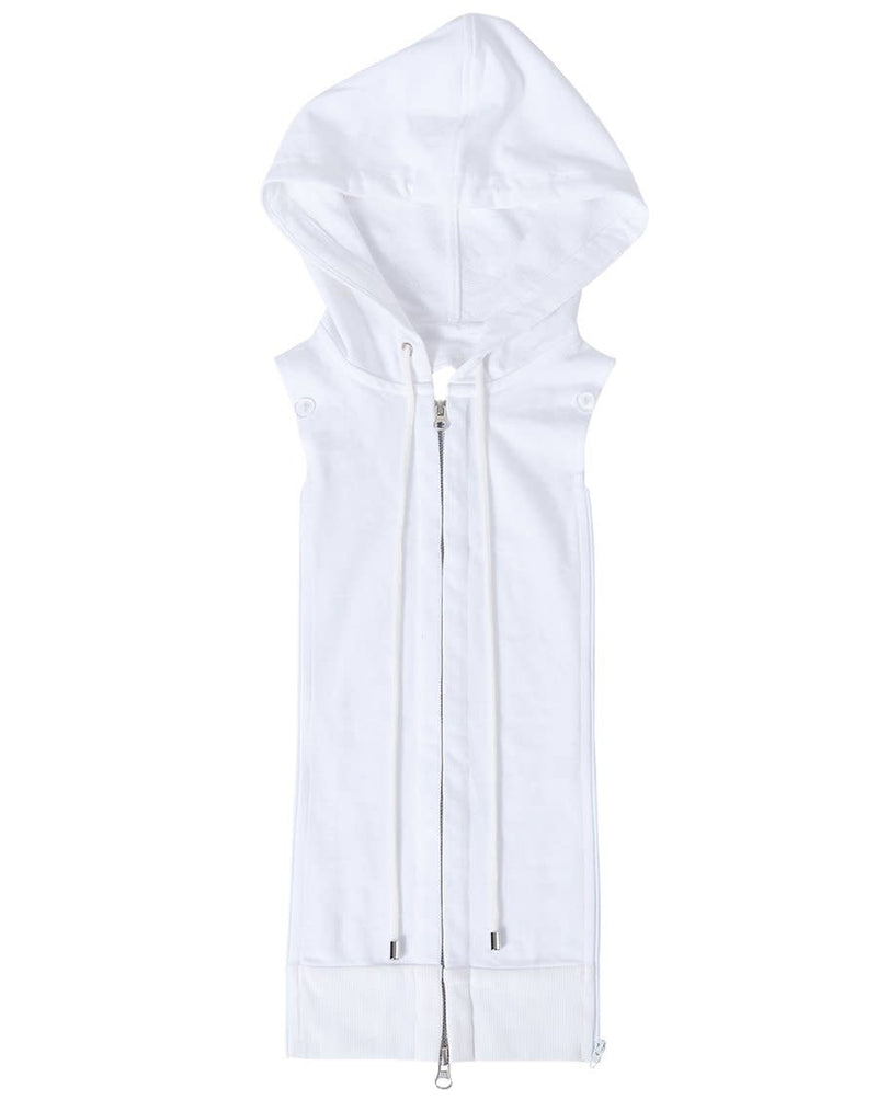 COTTON HOODIE DICKEY WHITE