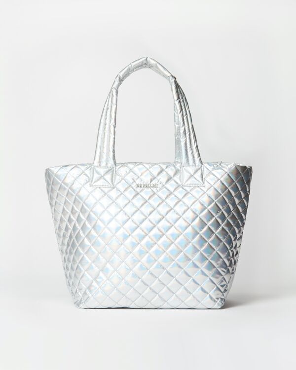METRO TOTE MEDIUM HOLOGRAM METALLIC