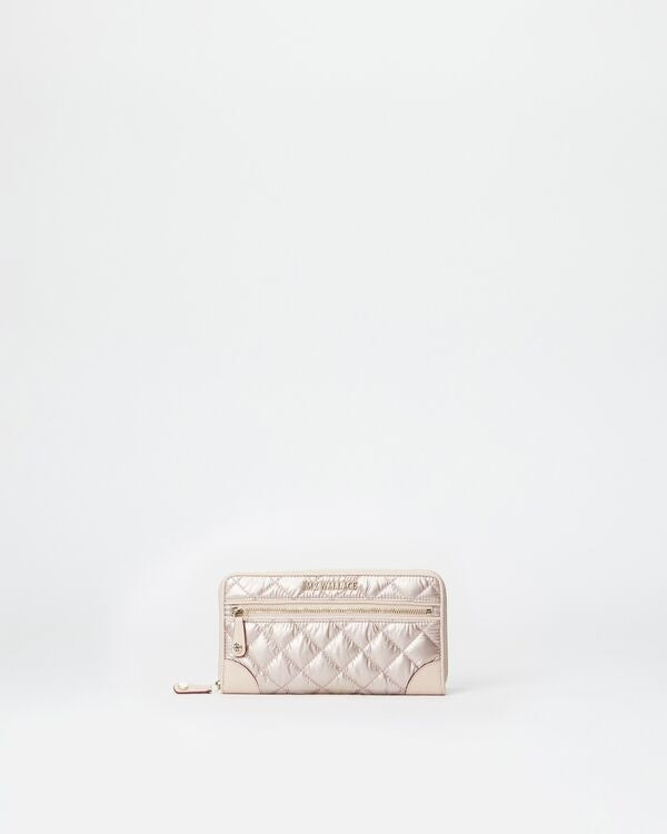CROSBY LONG WALLET ROSE GOLD METALLIC