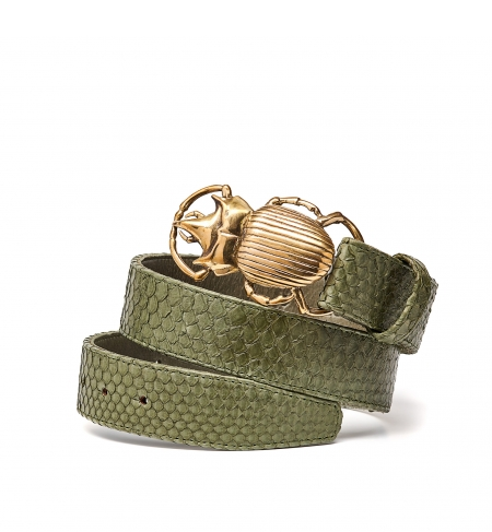Python Belt Beetle in Army Green